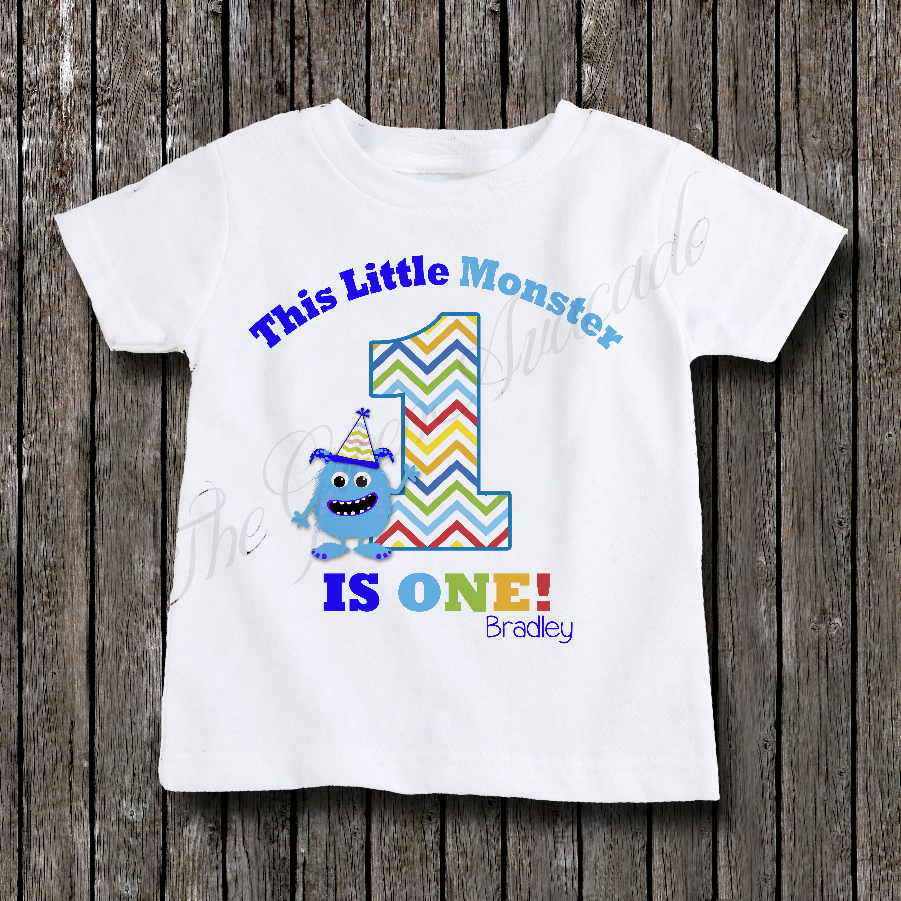 da292a0c This Little Monster Is One - Birthday Shirt · The Green Avacado ...