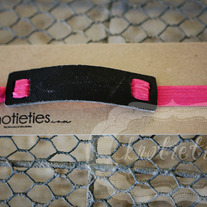 rock&roll leather headband knotietie