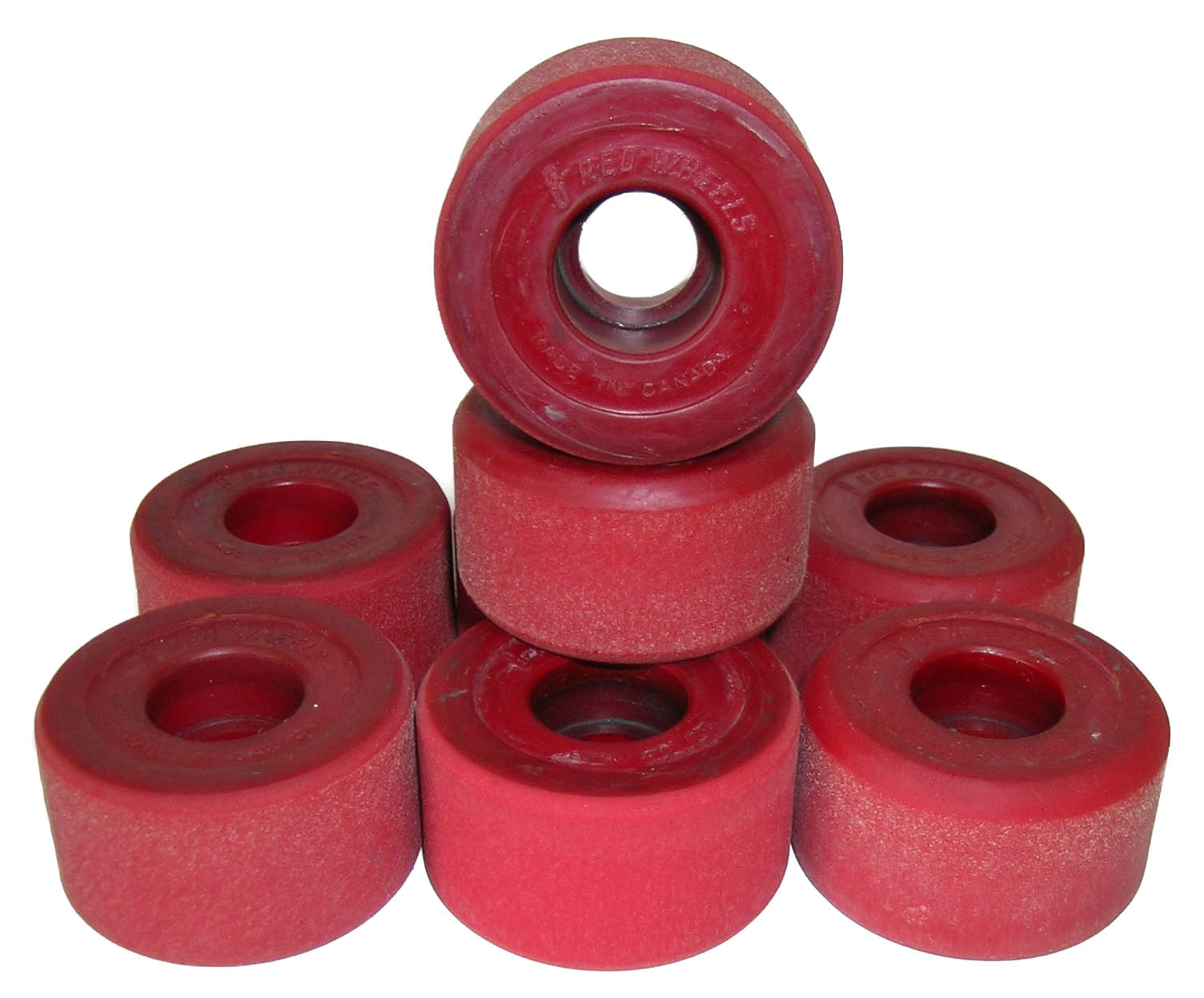Roller shoes canada - Canadian Reds Vintage Roller Skate Wheels Brick Red Thumbnail 1