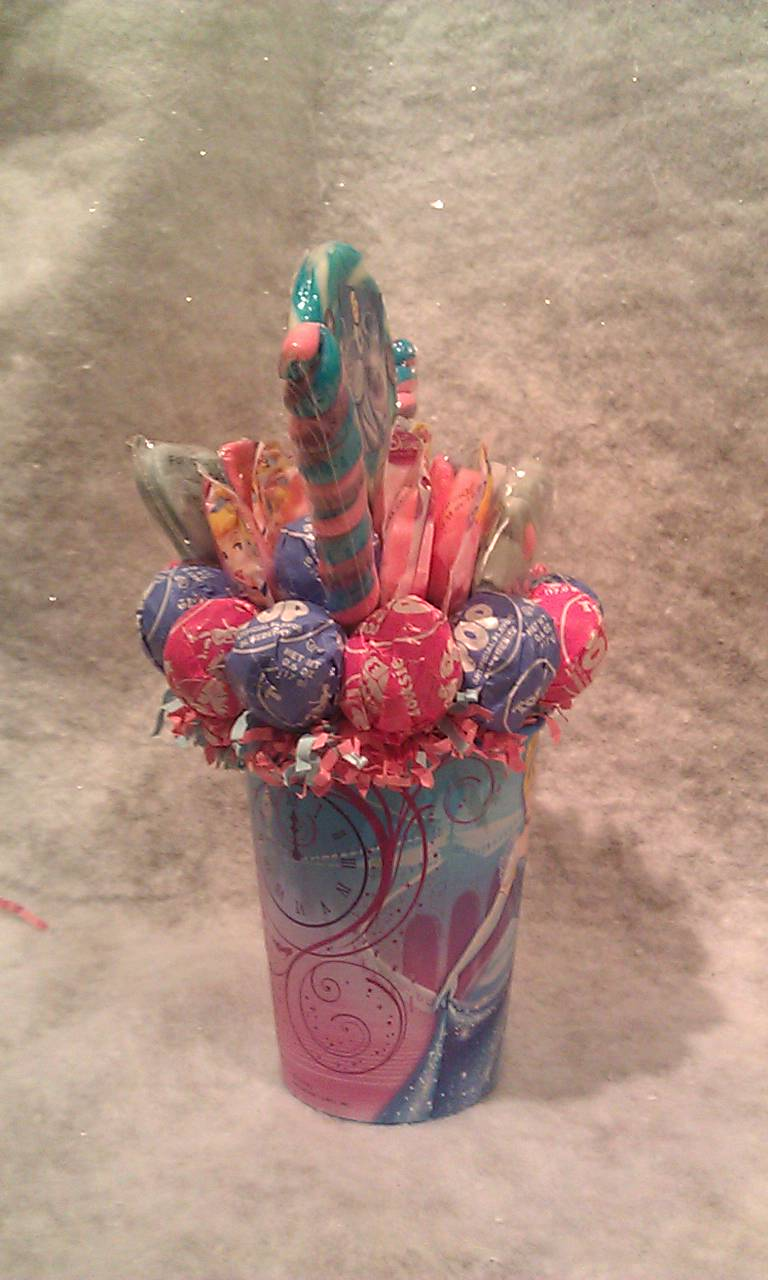 how to make a small lollipop bouquet