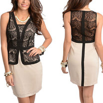Ladies Stylish Lace Classic Dress