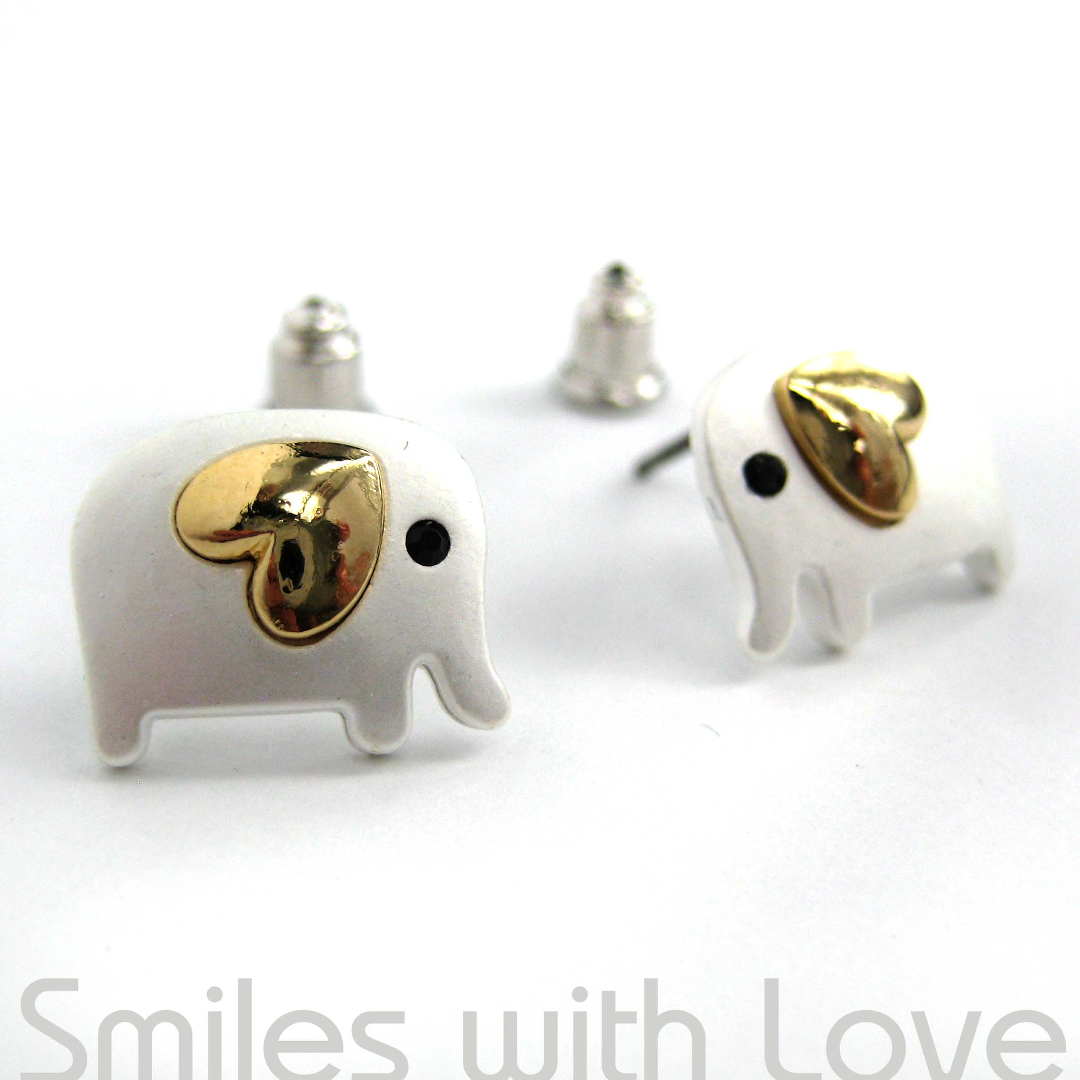 silver in fake earrings dotoly gauge unique elephant plug on original shaped stud storenvy products animal