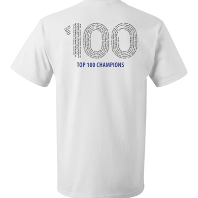 Smbinfluencer champion white t-shirt (top 100 on back)