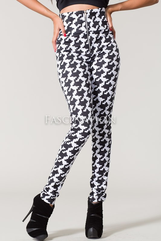 Cheri's Kloset | High-Waisted Houndstooth Print Leggings | Online ...