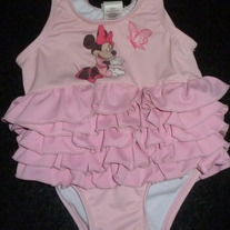 MINNIE MOUSE SWIM SUIT-DISNEY-SIZE 6-9 MONTHS