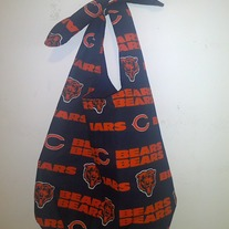Chicago Bears Cotton Print Handmade Tie Bag
