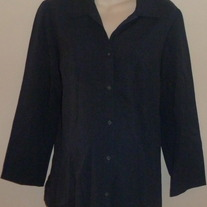 Navy Blue Shirt/Jacket-Motherhood Maternity Size Large