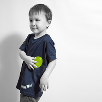 Kids Balloon Caterpillar - Navy/Green