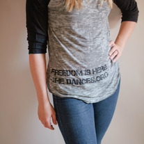 Freedom is Here Baseball Burnout Tee