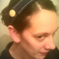Navy Button Headband