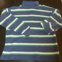 Navy/Green/Gray Strip Turtleneck-Gap Size Medium/8