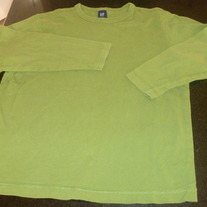 Long Sleeve Green Shirt-Gap Kids Size 8