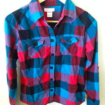 Blue and Red O'neill Flannel Shirt