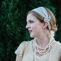 The Bridee  - Rhinestone and Tulle Headband or Modern Veil