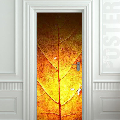 Door STICKER leaf autumn fall gold nature tree mural decole film self- adhesive poster 30x79\ (77x200 cm) / · Pulaton · Online Store Powered by Storenvy & Door STICKER leaf autumn fall gold nature tree mural decole film ...