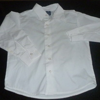 White Button Shirt W/Collar-Dockers Size 6