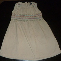 Khaki Corduroy Dress-Baby Gap Size 2T