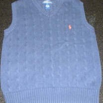 Navy Sweater Vest-Polo Ralph Lauren Size Small