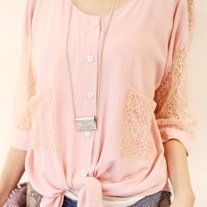 Hollow Out Half Sleeve Blouse
