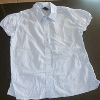 Blue Striped Shirt-Gap Kids Size 7-8