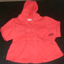 Red Hooded Coat-Koala Kids Size 48 Months