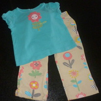 Flower Pant Set-Gymboree Size 18-24 Months