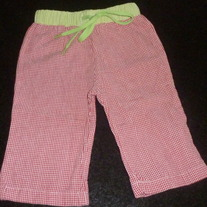Red/White/Green Pants-Mudpie Size 0-6 Months