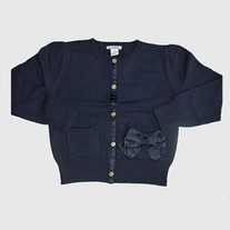 Hartstrings Navy Cardigan with Bow