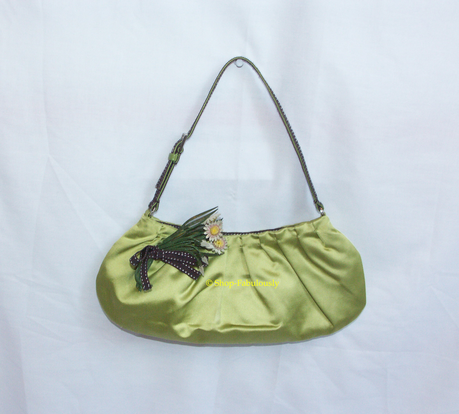 ostrich prada bag - Leather with Satin Flower Clutch �� Crafthubs