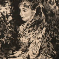 Irène Cahen d'Anvers, after Renoir (black variant)