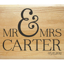 Mr & Mrs Personalized Plaque