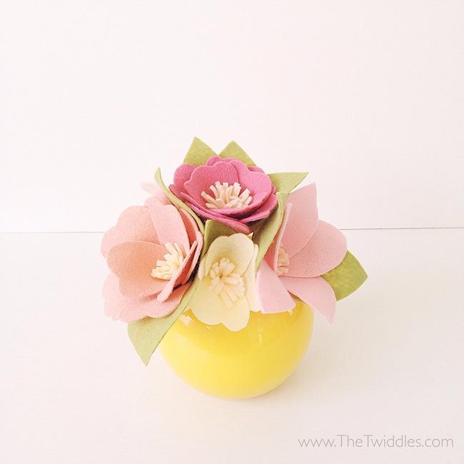 Felt Flower Bouquet - Light Pinks & Yellows · The Twiddles · Online ...