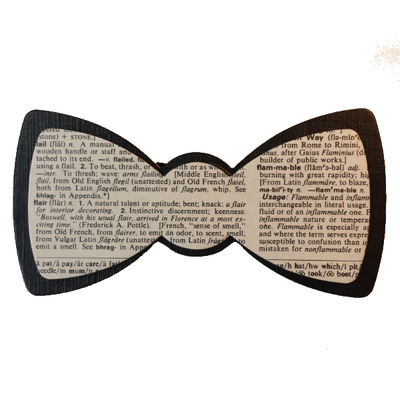 Dictionary page bow tie