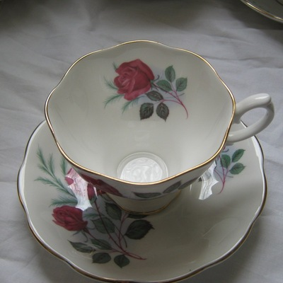 Royal albert red rose tea cup and saucer