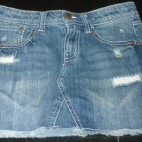 Denim Jean Skirt-Mudd Size 12