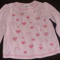 LS Pink Shirt with Hearts-Gymboree Size 4T