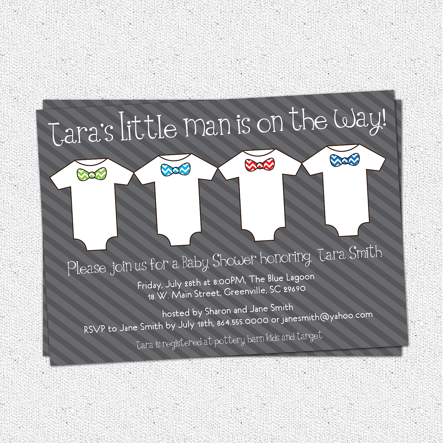 Baby Shower Invitations, Little Man, Little Guy, Chevron,One Pieces ...