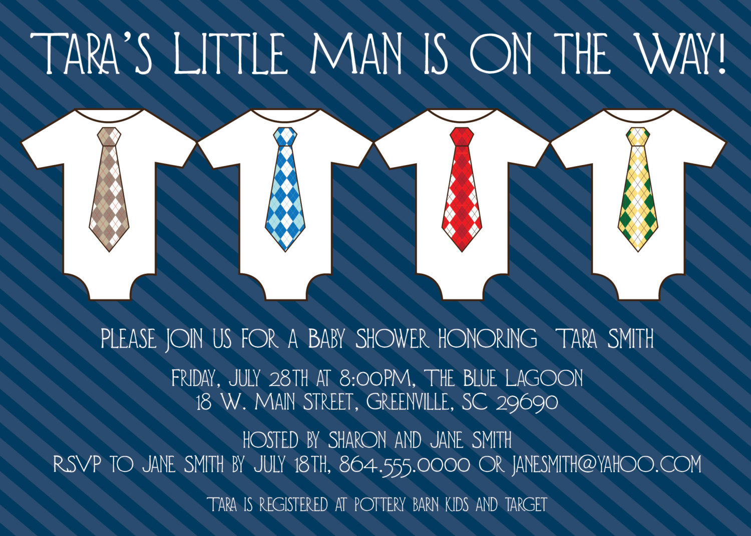 Baby Shower Invitations, Little Man, Little Guy, Manly, Macho, Onesies And