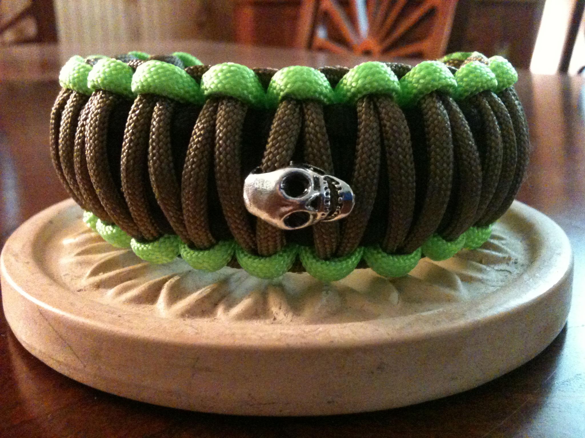 Skull Bracelet Paracord Bracelet W/skull
