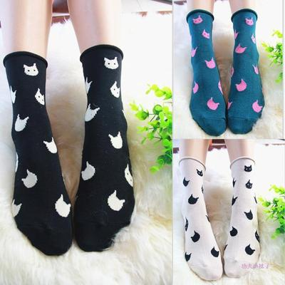 Cartoon kitten socks cat socks cat tights cotton socks