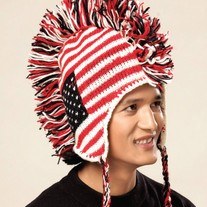 USA Flag Mohawk Hat