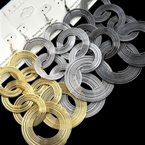 Interlock Hoop Earrings - Assorted