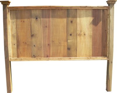 King size knotty pine headboard