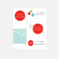 christmas gift tags | set two