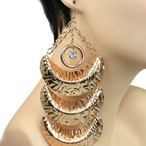 Golden Moon Statement Earrings