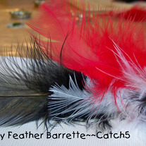 Fancy Feather Barrette