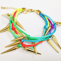 Colorful Spikes Neon bracelet