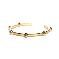 Rose Gold Skull Bangle