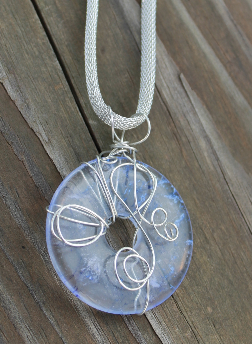 wire wrapped pendant donuts - photo #31