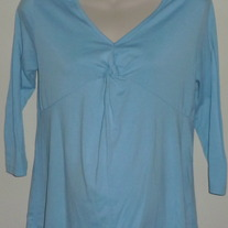 Blue Shirt with Tied Knot-Announcements Maternity Size Small (4/6)